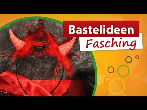 🔥 Haarreif Teufel basteln 🔥 Bastelideen Fasching - Ideal für Teufelkostüm trendmarkt24 DIY