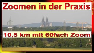 Praxis Zoomen - Objekte 60-fach anzoomen auf 1,5 km und 10,5 km - Panasonic Lumix DC-FZ82 - 4K Video