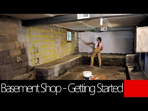 Basement Workshop - Getting started Cleaning and Painting - Creative Paridise!