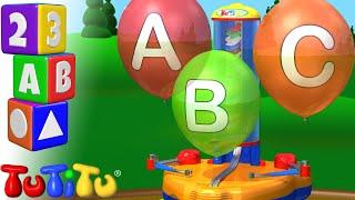 Das Englische Alphabet | ABC auf Englisch Lernen | ABC Ballon-Maschine | TuTiTu Englisch lernen