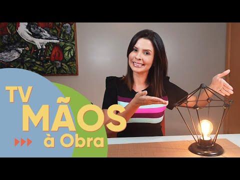 TV Mãos à Obra ensina o passo a passo de uma luminária feita de palitos de churrasco