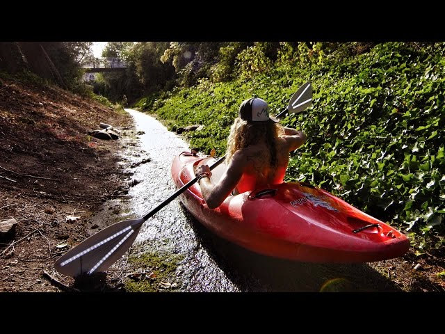 Urban Kayaking with Torch Paddles | DEVINSUPERTRAMP