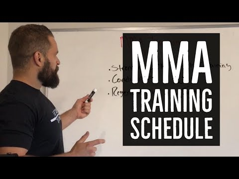 Training Schedule for MMA Fighters   FightCampConditioning