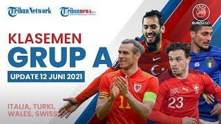 Euro 2020: Update Klasemen Grup A, Italia Duduki Puncak Klasemen, Swiss dan Wales di Posisi 2 & 3