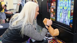 Over The Top Arm Wrestling Arcade Game at EVO! (Full Footage)