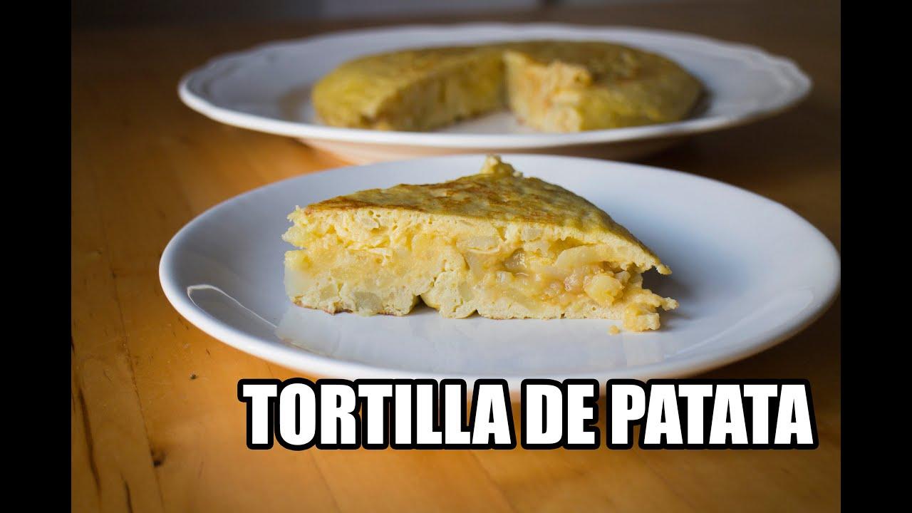 Como hacer una TORTILLA DE PATATA. Grabado con una GO PRO