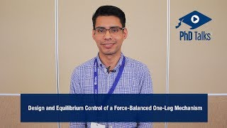 Design and Equilibrium Control of a Force-Balanced One-Leg Mechanism