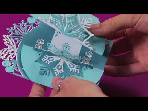 Beautiful DIY 3-D Snowflake Holiday Card! | Sizzix