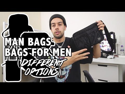Let's Talk About Bags for Men (Sidebags, Porter Tanker Shoulder Bag, Men's Streetwear & Fashion)