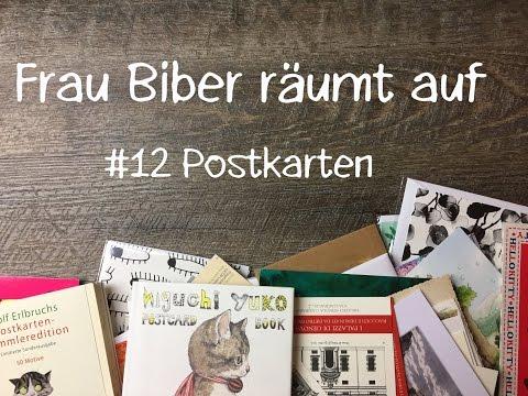 Frau Biber räumt auf   Decluttering am Dienstag   #12 Postkarten & Briefpapier
