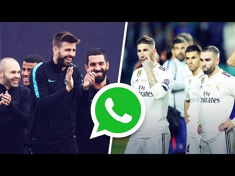 Gerard Pique created a WhatsApp group to trash Real Madrid   Oh My Goal