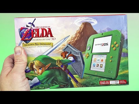 Nintendo 2DS: Link Edition Unboxing & First Look | Legend of Zelda Ocarina of Time Bundle!