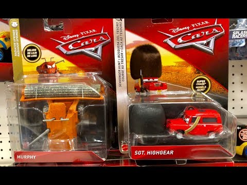 Disney Pixar Cars 3 Toy Hunt - SUPER CHASE Sgt Highgear - What's WRONG With Frank? Jurassic World