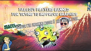 Fallout 76 Players Banned for using graphical mods & must an write an essay to be unbanned
