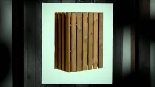 Corbeilles en bois - Mobilier Urbain Emrodis