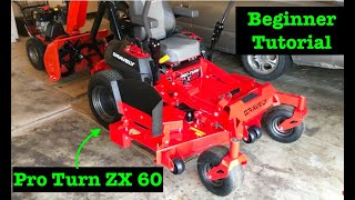 Beginner tutorial Getting to know your Zero turn mower - Gravely