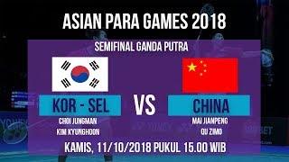 Jadwal Laga Semifinal Badminton Ganda Putra, Kor-Sel Vs China di Asian Para Games 2018