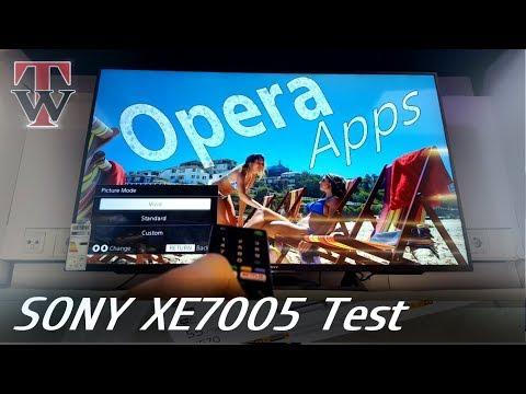 Opera Test - Sony XE7005 Smart TV
