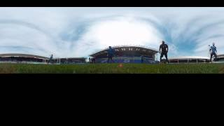 360 View: Goalkeepers Training On Pitch During Open Day (using Kodak SP360)