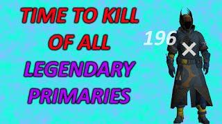 Fastest Time To Kill Primary Weapons In Destiny (Non Exotics)
