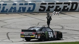 NASCAR - Chicagoland2015 Xfinity Final Laps Jones Passes Blaney and Wins