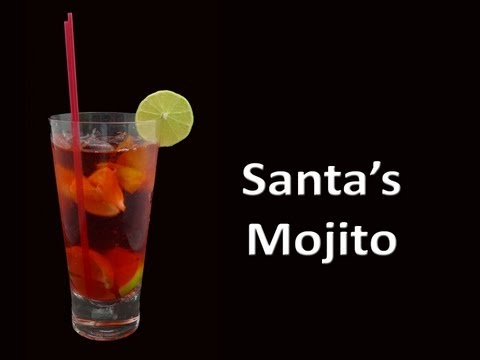 Santa's Christmas Mojito Drink Recipe