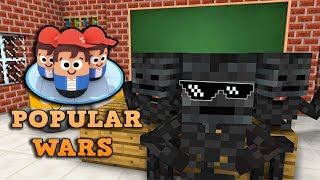 Monster School : POPULAR WARS CHALLENGE - Minecraft Animation