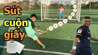 Thử Thách Bóng Đá mùa Asian CUP 2019 Quang Hải Nhí trổ tài sút Vô Lê như Ronaldo và tâng như Neymar
