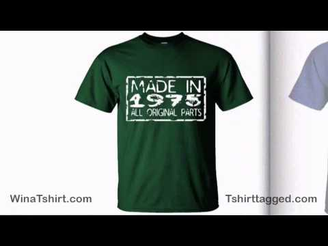 40th Birthday Gift Ideas – Made In 1975 T Shirt