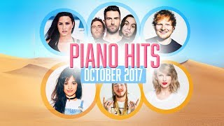 Piano Hits Pop Songs October 2017 : Over 1 hour of Billboard hits - music for classroom ,studying