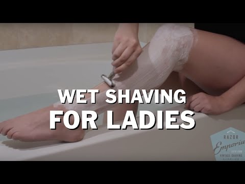 Beginner How To: Wet Shave DE Straight Razor Shaving for Women