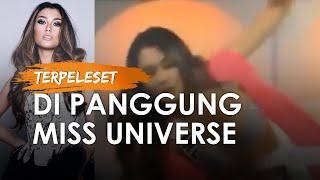 Video Detik-detik Puteri Indonesia Frederika Terpeleset di Panggung Miss Universe, Lihat Reaksinya