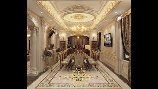 preview picture of video 'trần nhà gắn phào thạch cao hoa văn cổ điển'