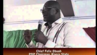 Rivers State PDP Commends Adoption Of President Jonathan