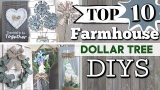 TOP 10 Dollar Tree DIYS | Best Farmhouse Dollar Tree DIYS | DIY Farmhouse Decor | Krafts by Katelyn