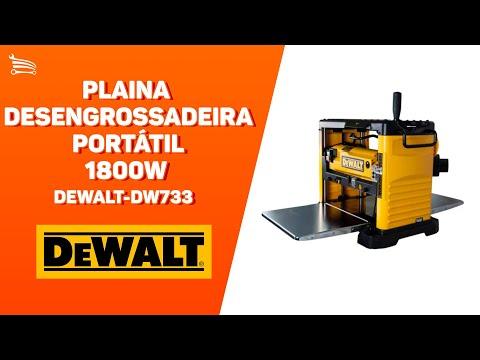 Plaina Desengrossadeira Portátil 1800W  - Video