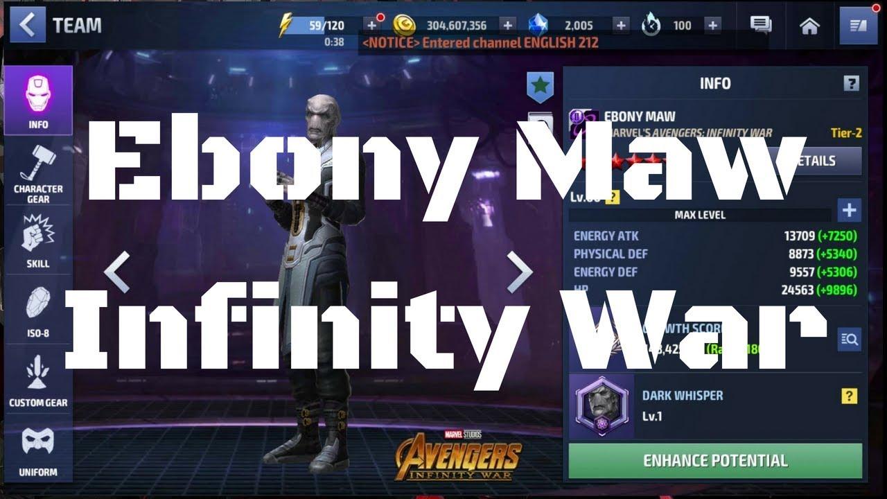รีวิว Ebony Maw ยู Infinity War