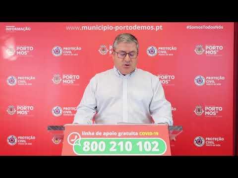 Comunicado Presidente da Câmara Municipal de Porto de Mós - COVID-19 - 15-06-2020