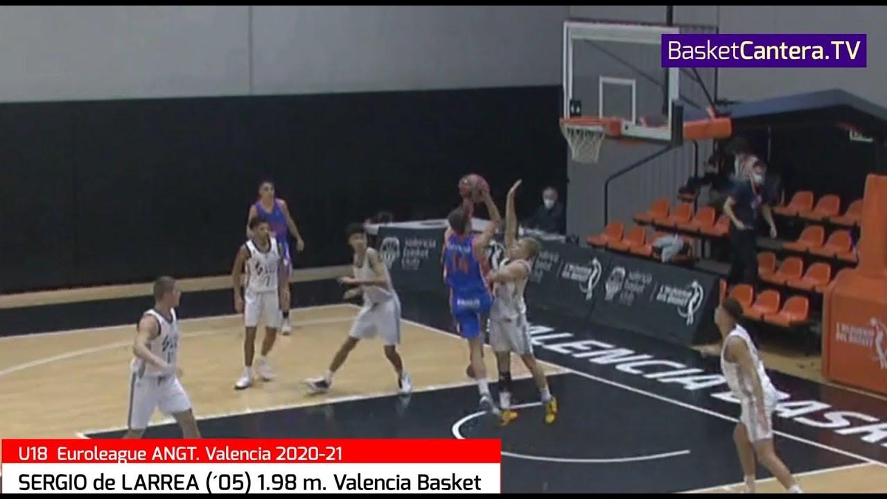 SERGIO DE LARREA ('05) 1.98 m. Valencia Basket (San Agustín Valladolid) Torneo ANGT Euroliga 2020/21