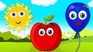 Learn Colors with Fruits For Kids | Nursery Rhymes Songs by HooplaKidz