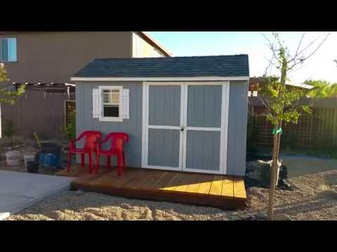 Stratford Wood Shed Assembly Time-lapse 12' x 8' and Review from Lowes