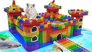DIY - Build Amazing Aquarium Shark Tank Hamster Castle With Magnetic Balls (Satisfying)-Magnet Balls