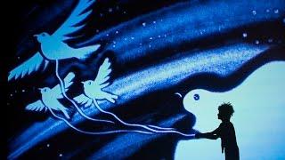 Les secrets du Petit Prince (sand art Cedric Cassimo)