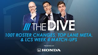 The Dive | 100T Roster Changes, Top Lane Meta, & LCS Week 4 Match-Ups