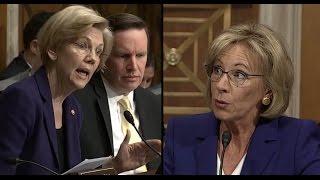 Warren Questions Betsy Devos