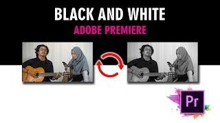 Cara Mudah Gunakan Effect Black and White Gunakan Adobe Premiere, Satu menit Jadi