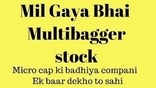 Multibagger stock | Micro cap company | ये company आपको राजा बना देगी | long term shares LTS |