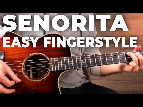 Download Senorita Fingerstyle Guitar TUTORIAL/LESSON - (Shawn Mendes, Camila Cabello) Mp4 HD Video and MP3