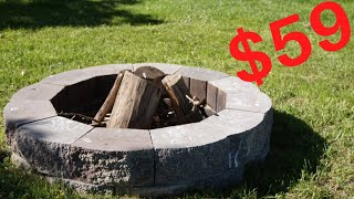 How To Build An Outdoor Fire Pit For $59!!!!!