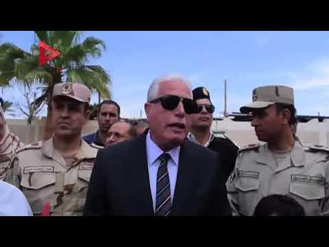 محافظ جنوب سيناء يتفقد اللجان الانتخابية فى
